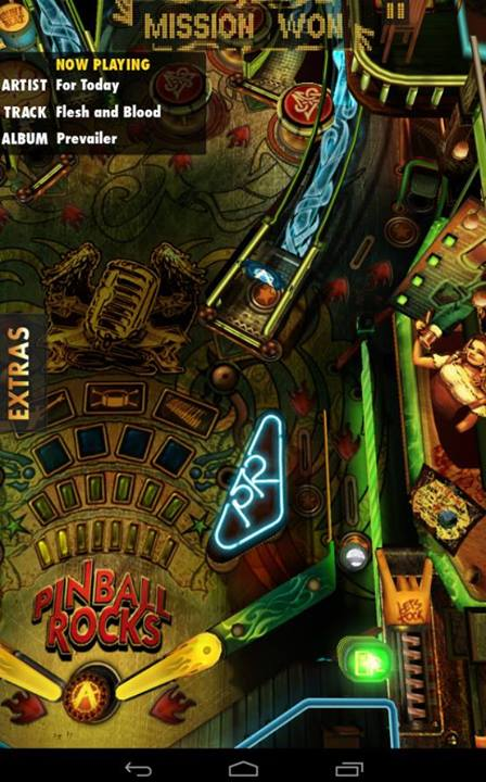 For Today in pinball game